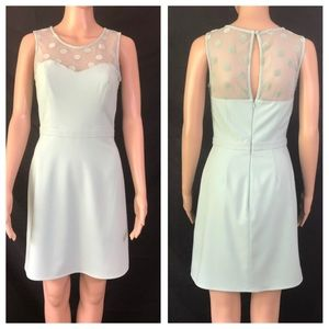 LC Lauren Conrad Dress Mint Green Illusion Necklin